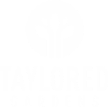 Taylored Gardens white logo